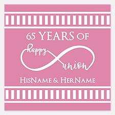 65th Anniversary Gift Infin Invitations
