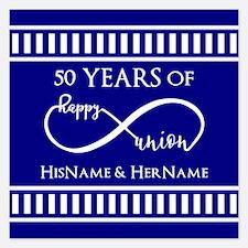 50th Wedding Anniversary Pe Invitations