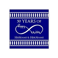 "50th Wedding Anniversary Pe Square Sticker 3"" x 3"""