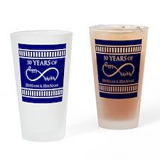 50th Wedding Anniversary Personaliz Drinking Glass