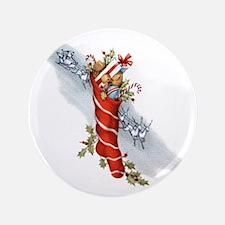 Vintage Christmas Stocking Button