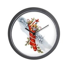 Vingate Christmas Stocking Wall Clock