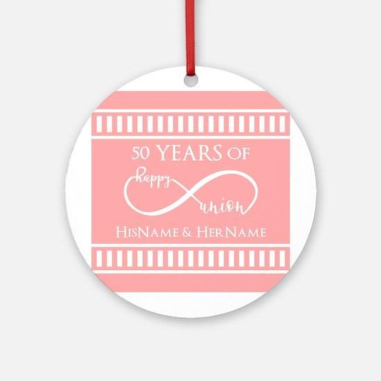 Infinity 50th Wedding Anniversary P Round Ornament