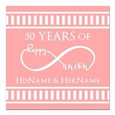 "Infinity 50th Wedding An Square Car Magnet 3"" x 3"""