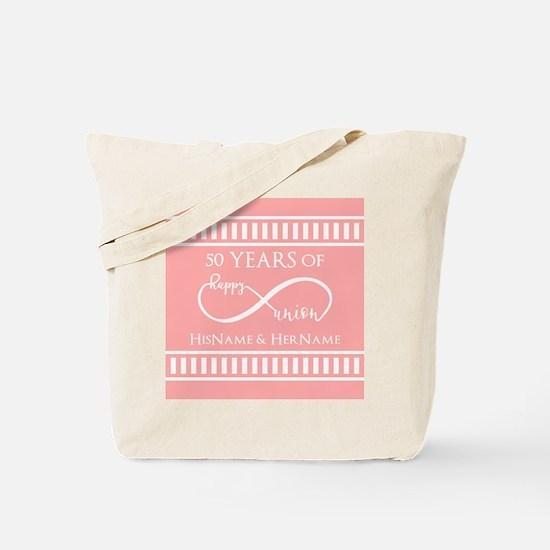 Infinity 50th Wedding Anniversary Persona Tote Bag