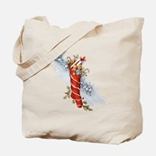 Vintage Christmas Stocking Tote Bag