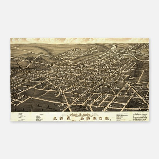 Cute Ann Arbor Michigan Area Rug