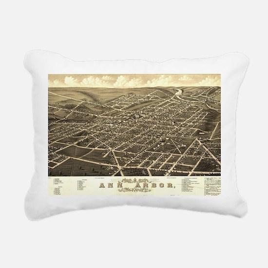 Cool Ann arbor Rectangular Canvas Pillow