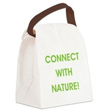 CONNECT WITH NATURE! Canvas Lunch Bag