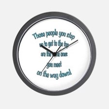 Getting to the Top Wall Clock