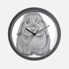 Holland Lop by Karla Hetzler Wall Clock