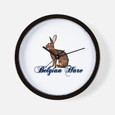 Belgian Hare Wall Clock