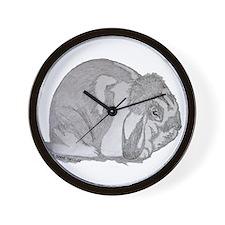 Mini Lop By Karla Hetzler Wall Clock