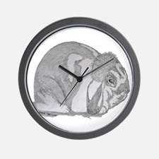Mini Lop By Karla Hetzler Wall Clock