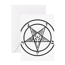 Baphomet - Satan Greeting Cards