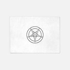 Baphomet - Satan 5'x7'Area Rug