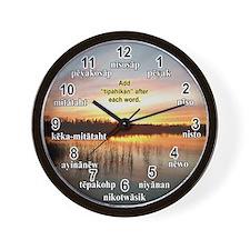 Cute Woodland Wall Clock