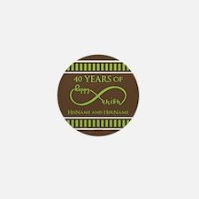 40th Wedding Anniversary Bro Mini Button (10 pack)