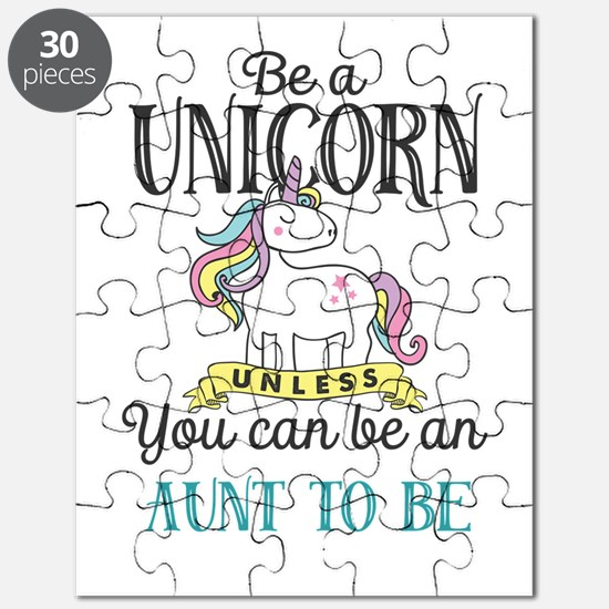 Unicorn AUNT TO BE Puzzle