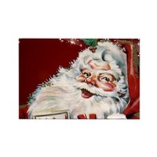 Vintage Santa Claus with many gifts Magnets