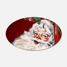 Vintage Santa Claus with many gifts Wall Decal