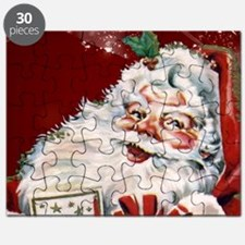 Vintage Santa Claus with many gifts Puzzle
