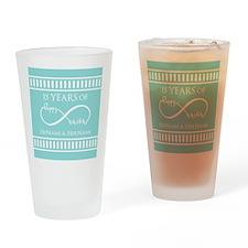 Custom Infinity Love Wedding Date a Drinking Glass