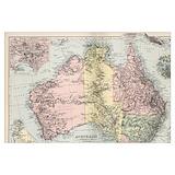 Australia map Posters