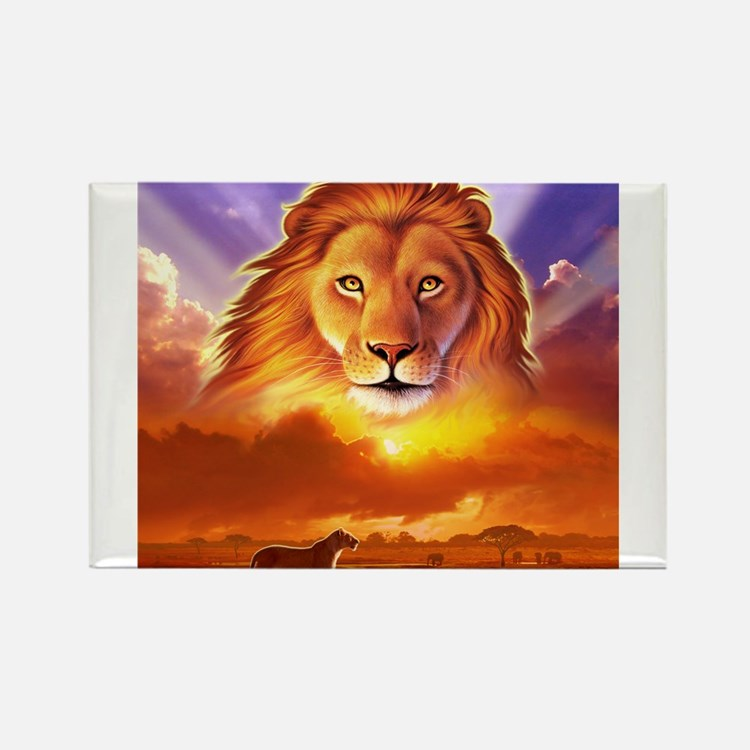 Cute Lion king Rectangle Magnet