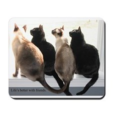 Bird Watching With Cat Friends Mousepad