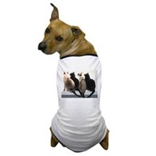 Bird Watching With Cat Friends Dog T-Shirt