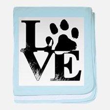 Paws of Love baby blanket