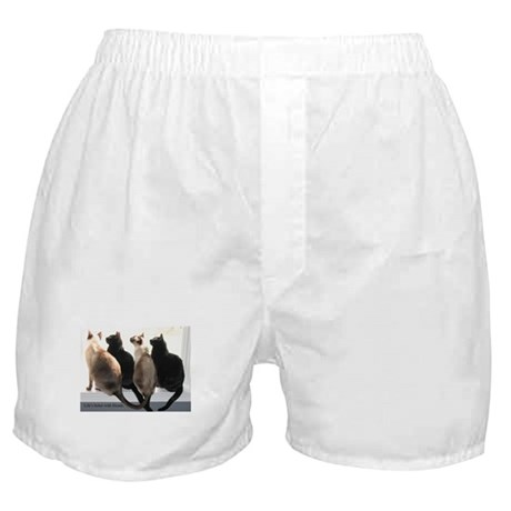 Bird Watching With Cat Friends Boxer Shorts
