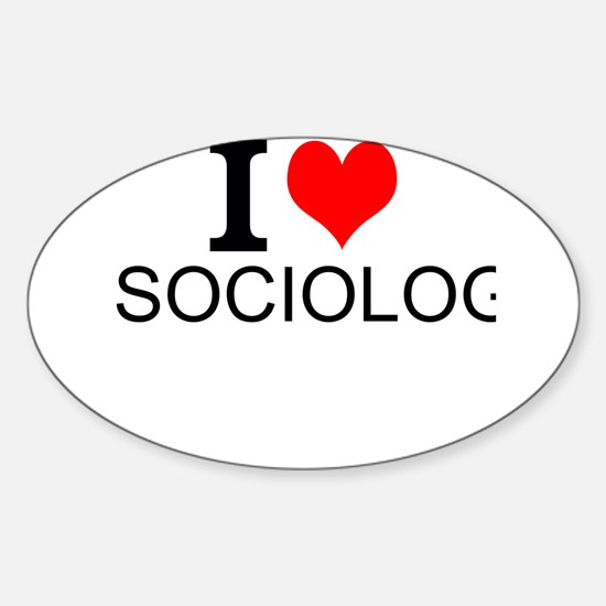 I Love Sociology Decal