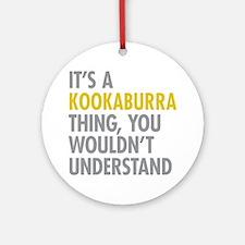 Kookaburra Thing Round Ornament