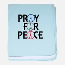 Pray for Peace baby blanket
