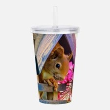 Adorable Squirrel in L Acrylic Double-wall Tumbler