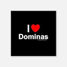 "Dominas Square Sticker 3"" x 3"""