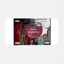 Apple Shop Aluminum License Plate