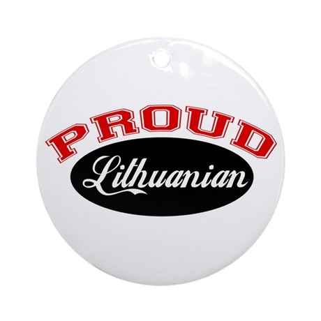 Proud Lithuanian Ornament (Round)
