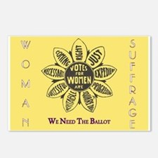 Woman Suffrage Emblem Postcards (Package of 8)