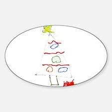 Christmas Tree Sketch Decal