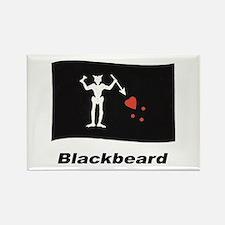 Pirate Flag - Blackbeard Rectangle Magnet
