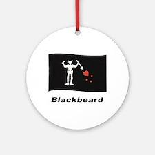 Pirate Flag - Blackbeard Ornament (Round)