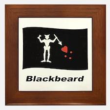 Pirate Flag - Blackbeard Framed Tile