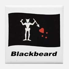 Pirate Flag - Blackbeard Tile Coaster