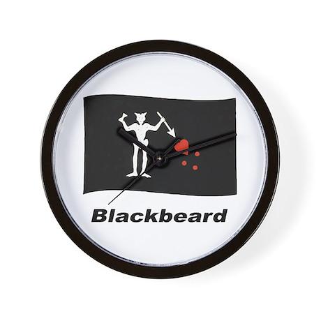 Pirate Flag - Blackbeard Wall Clock