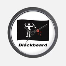 Pirate Flag - Blackbeard Wall Clock