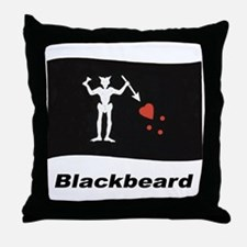 Pirate Flag - Blackbeard Throw Pillow