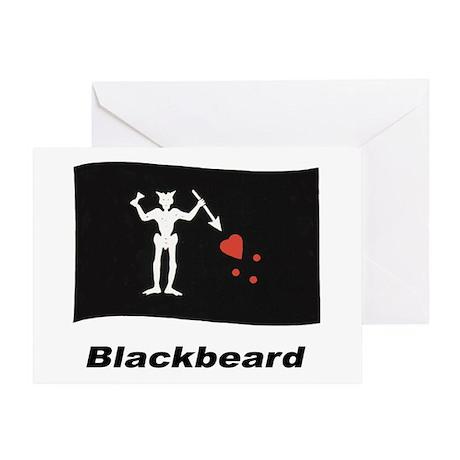 Pirate Flag - Blackbeard Greeting Card